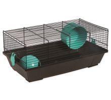 Klietka SMALL ANIMAL Viktor čierna s modrou výbavou 1ks
