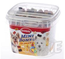 SANAL Mini Bones - poloměkké mini kostičky kuře,hovězí 100 g