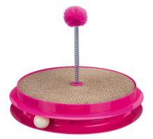 Hračka pre mačku kruh sa škrab.kartonem, guličkou a hračkou