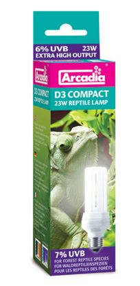 Arcadia D3 Compact Reptile Lamp 23W 7.0 UVB