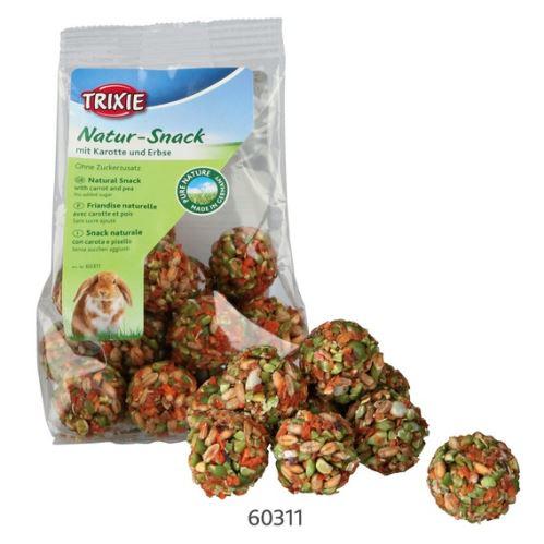 Natur Snack - guličky s mrkvou a hráškom pre hlodavce 140 g