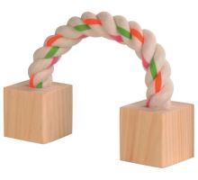 Bavlnený most s drevenými kockami 20cm pre hlodavce