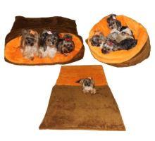 Pelíšek MAX - skořicová/oranžová