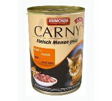 Animonda konzerva CARNY Adult - hovädzie, kuracie 400g