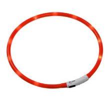 LED světelný obojek oranžový obvod 20-75cm