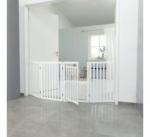 Ochranná bariéra s otváracími dvierkami 60-160 x 81 cm biela