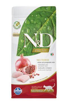 N & D PRIME CAT Neutered Chicken & Pomegranate 10kg