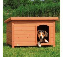 Búda pre psa, drevená, rovná strecha TRIXIE