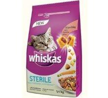 Whiskas Dry kuracie STERILE 1,4 kg