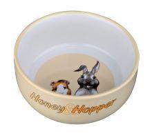 Keramická miska Honey-Hopper pre morča, králika 250ml / 11cm