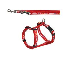 Puppy súprava postroj 23-34cm / 8mm + vodítko 2,00m / 8mm červená