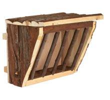 Drevené jasličky na seno, úchyt na klietku 20x15x17 cm