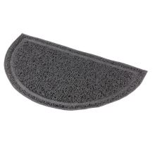 Polkruhová PVC predložka sivá k WC 59 x 35cm
