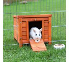 Drevený domček NATURA králik 60x47x50cm