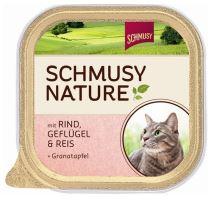 Schmusy Cat Nature Menu vanička hovädzie + hydina 100g