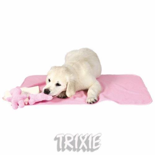 Sada pre šteňatá - deka s dvomi hračkami svetlo modrá