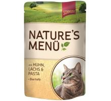 Schmusy Cat Nature Menu vrecko kura + losos 100g