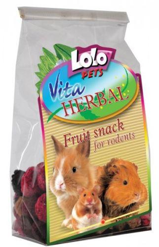 Lolopets VITA HERBAL ovocný snack pre hlodavce 50g