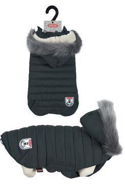 Oblek prešívaná bunda pre psov URBAN čierna 25cm Zolux