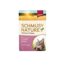 Schmusy Cat Nature Flakes kapsa morka + ryža + šťava 100g