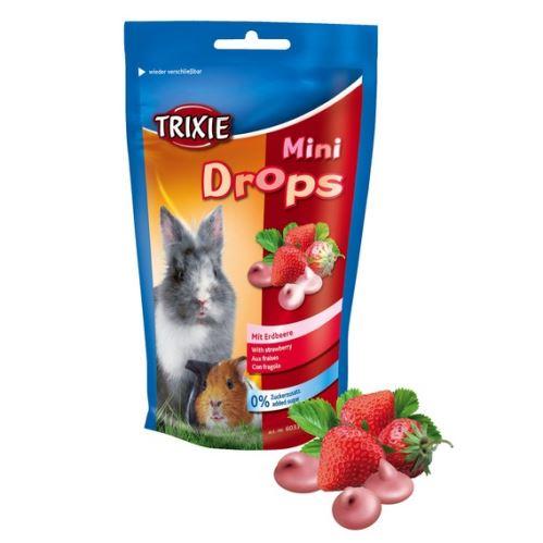 MINI dropsy jahodové pre morčatá, králiky 75 g