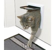Dvierka mačka plast 2P Freecat Classic Trixie Biela