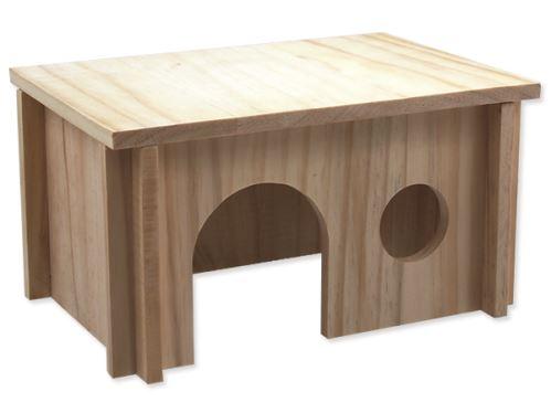 Domček SMALL ANIMAL drevený hladký 28 x 19 x 15 cm 1ks