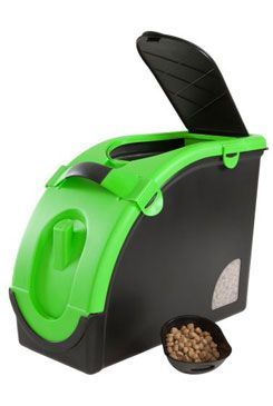Zásobník na granule pre 13 kg krmiva čierno-zelený Mael