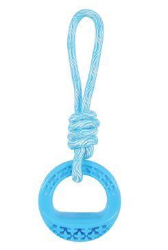Hračka pes TPR SAMBA krúžok s lanom modrá Zolux