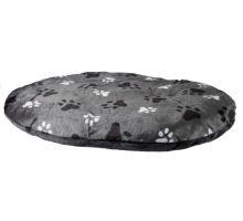 Oválny vankúš GINO šedý s packami 105x75cm