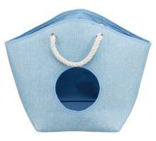 EMMA odpočívadlo pelech, tkaná textília 52x39x25 cm modré