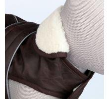 Oblečok Chamber im.hnědé kože, golier jahňacie vlna XS 25 cm
