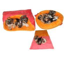 Pelíšek MAX - růžová/oranžová