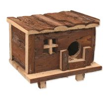 Domček SMALL ANIMAL Zrub drevený s kôrou 18 x 13 x 13,5 cm 1ks