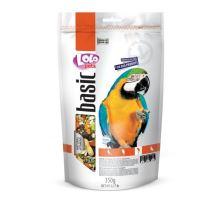 Lolo BASIC kompletné krmivo pre veľké papagáje 350 g doypack