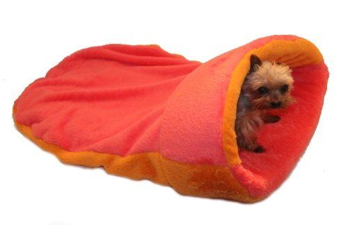 Pelíšek 2v1 XL - s lemem - oranžová/růžová