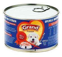 GRAND konz. šteňa špeciálny mas.směs 405g
