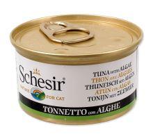 SCHESIR Cat tuniak + morská riasa v želé 85g