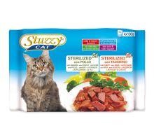 STUZZY Cat Sterilized kuracie + morčacie multipack 400g