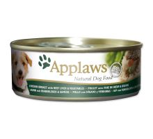 Applaws dog chicken, beef liver & zelenina 156g
