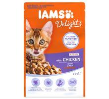IAMS mačiatko delights chicken in gravy 85g kapsička