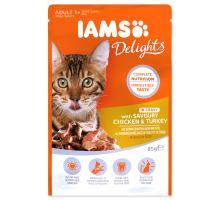 IAMS cat delights chicken & turkey in gravy 85g kapsička