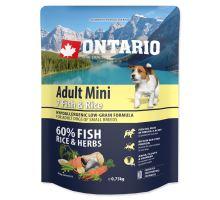 ONTARIO Adult Mini Fish & Rice 0,75kg