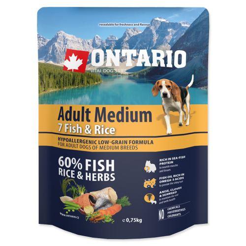 ONTARIO Adult Medium Fish & Rice 0,75kg