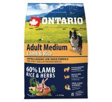 ONTARIO Adult Medium Lamb & Rice 2,25 kg
