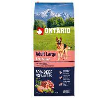 ONTARIO Adult Large Beef & Rice 12kg