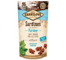 CARNILOVE Cat Semi Moist Snack Sardina Enriched with Parsley 50g