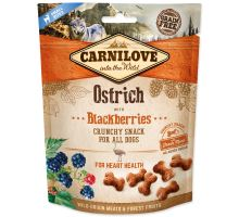 CARNILOVE Dog Crunchy Snack Pštros with Blackberries with fresh meat 200g