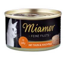 MIAMOR Feine Filets tuniak + prepeličie vajcia v želé 100g