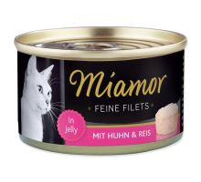 MIAMOR Feine Filets kura + ryža v želé 100g